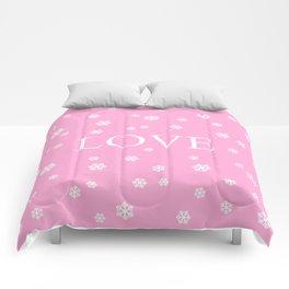 Winter Love - pink - more colors Comforters