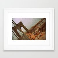 brooklyn bridge Framed Art Prints featuring Brooklyn Bridge  by S|Tarah