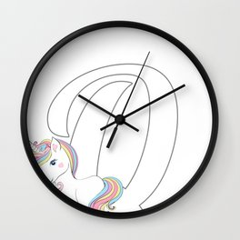 Unicorn,letters,a,b,c,personalised gift ideas  Wall Clock
