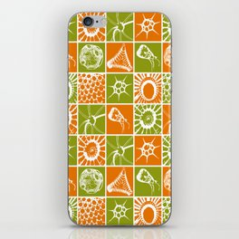 Microscopic Life Sillouetts Orange and Green iPhone Skin