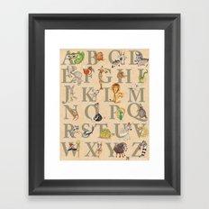 ABC Animals Framed Art Print