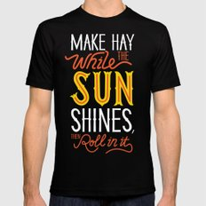 Sunshine LARGE Mens Fitted Tee Black