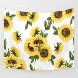 Lovely Sunflower Wall Tapestry