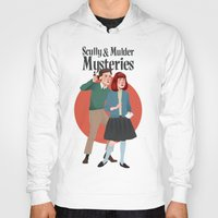 mulder Hoodies featuring Scully and Mulder Mystery Stories  by Celeste Pille