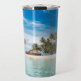 Huts on the San Blas Islands, Panama Travel Mug