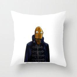 Steampunk Robot Throw Pillow