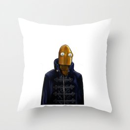 Steampunk Robot Throw Pillow