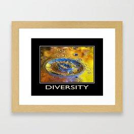 Inspiring Diversity Framed Art Print