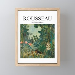 Rousseau - The Equatorial Jungle Framed Mini Art Print