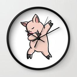 Funny Dabbing Mini Pig Pet Dab Dance Wall Clock