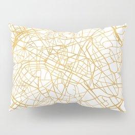 PARIS FRANCE CITY STREET MAP ART Pillow Sham