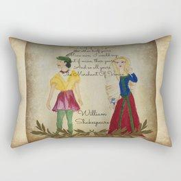 Mixed Media Shakespeare  Rectangular Pillow
