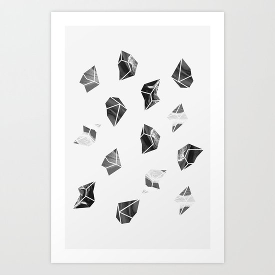 Marble Fragments Art Print