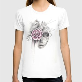 Rose Sugar Skull T-shirt