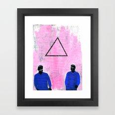 Trekant Framed Art Print