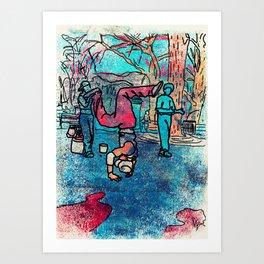 Street Performer Art Print