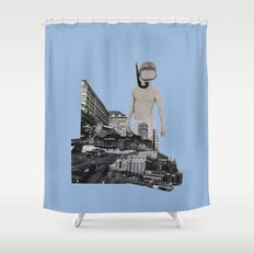 Dive in the city Shower Curtain