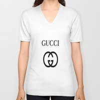gucci V-neck T-shirts featuring Gucci by I Love Decor