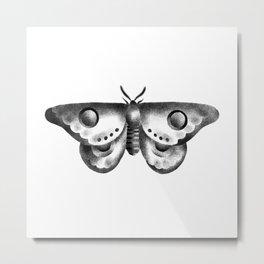 Goliath Moth Metal Print