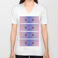 palm trees V-neck T-shirts featuring palm trees by taylor st. claire