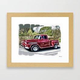 1959 Chevrolet Truck Framed Art Print