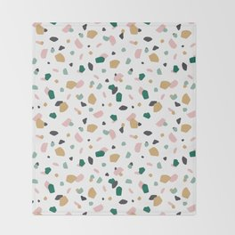 Tropical Terrazzo Throw Blanket