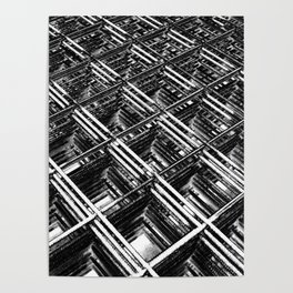Rebar On Rebar - Industrial Abstract Poster