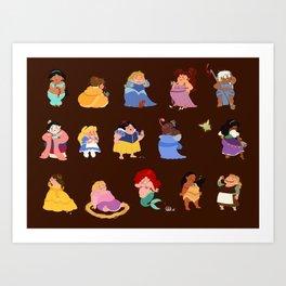 Fat princesses  Art Print