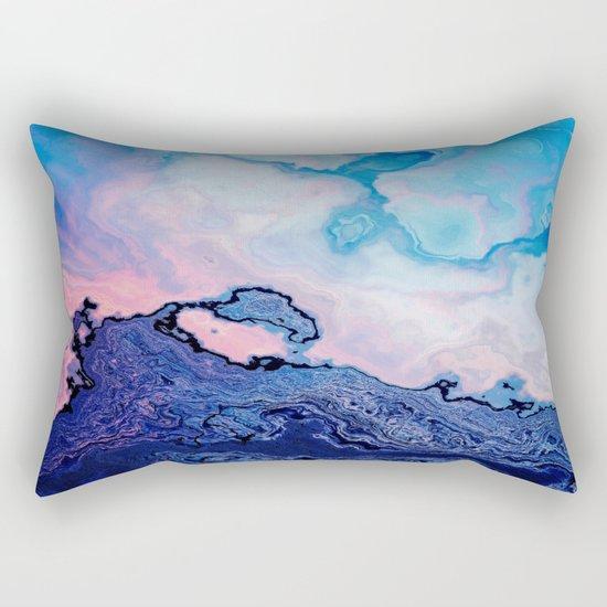BLUE AND PINK PAINT MIXING Rectangular Pillow