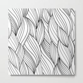 Doodle of Zentangle Hair Braids Metal Print