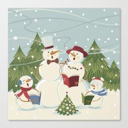 Christmas Song / Snowmen Canvas Print