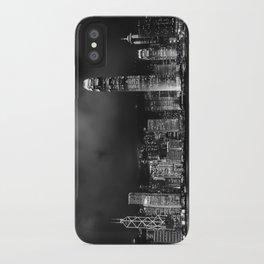Hong Kong Skyline [Black & White] iPhone Case