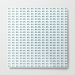 Lambretta GP Blue and White Metal Print