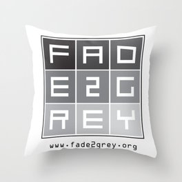 fade 2 grey Throw Pillow