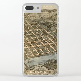 Map Of Knoxville 1871 Clear iPhone Case