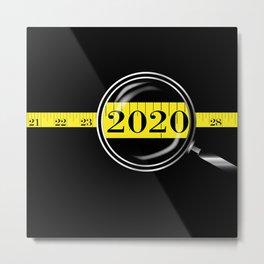 Tape Measure Border 2020 Metal Print