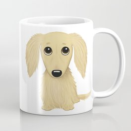 Longhaired Cream Dachshund Coffee Mug