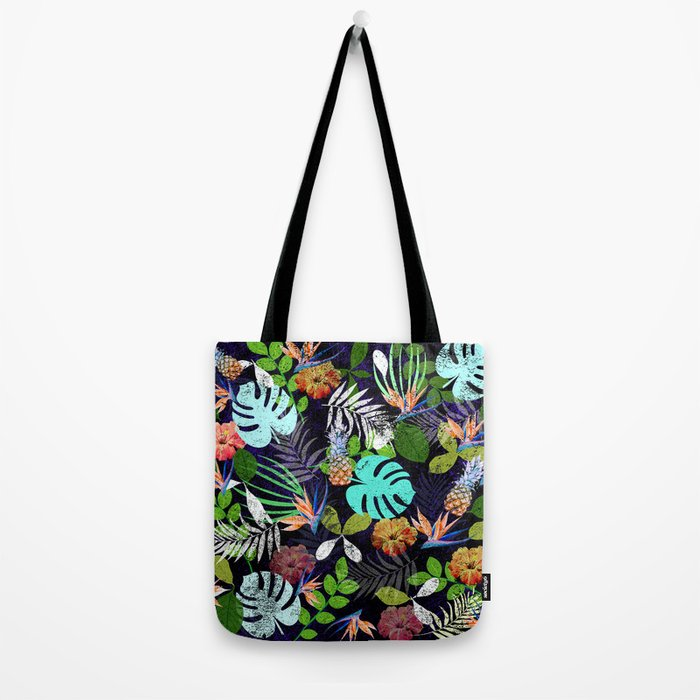 Tropical garden at night Tote Bag