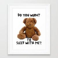 teddy bear Framed Art Prints featuring teddy bear by ulas okuyucu
