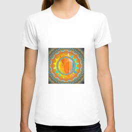 Moon and Sun Mandala Design T-shirt