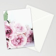 Pink Rose Bouquet Stationery Cards