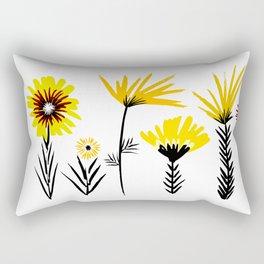 Sunny Days Ahead / floral art Rectangular Pillow