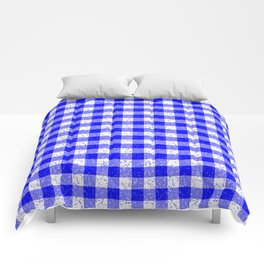 Gingham Blue and White Pattern Comforters