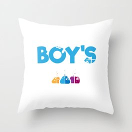Science Boy Protect This Boys Got Solutions Throw Pillow