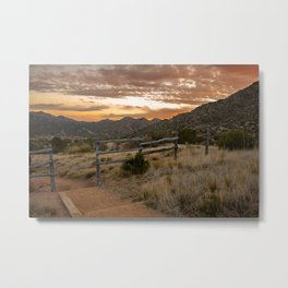 Three Guns Spring Trail outside of Albuquerque, New Mexico Metal Print