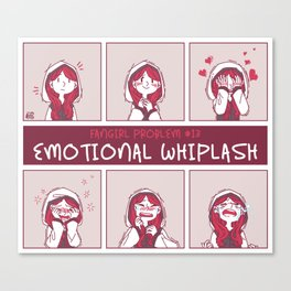 emotional whiplash Canvas Print