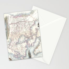 Vintage Map of Canada (1849) Stationery Cards