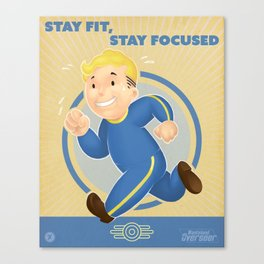 Stay Fit, Stay Focused Canvas Print