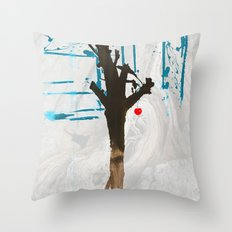 Winter Fruit HaiKu Throw Pillow
