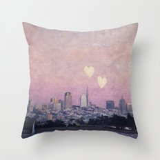 Where We Left Our Hearts Throw Pillow